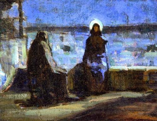 Henry-Ossawa-Tanner Study-for-Nicodemus-Visiting-Jesus.jpg