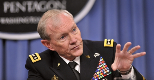 Defense_gov_News_Photo_120510-D-NI589-432_-_Chairman_of_the_Joint_Chiefs_of_Staff_Gen__Martin_E__Dempsey_answers_a_reporter_s_question_as_he_and_Secretar.jpg