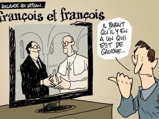 françois hollande,pape françois,catholiques