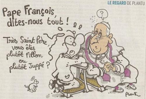 juppé,fillon,pape françois
